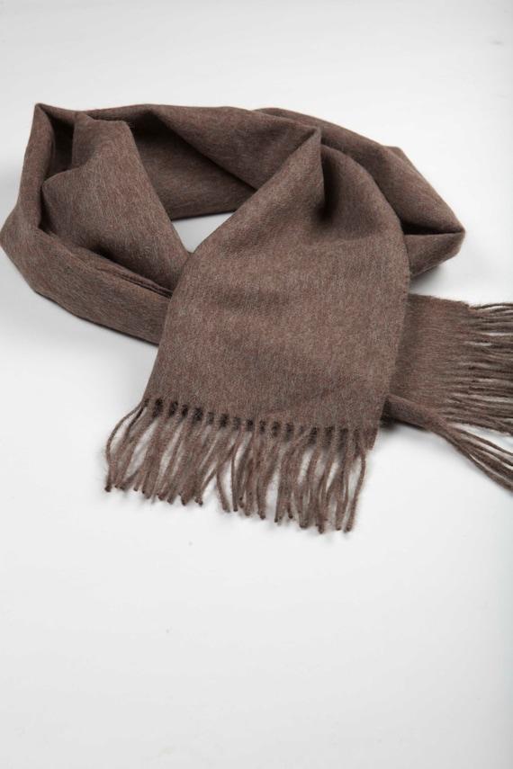 7dd54b01e2f Premium marron bébé alpaga écharpe en laine pour femme homme