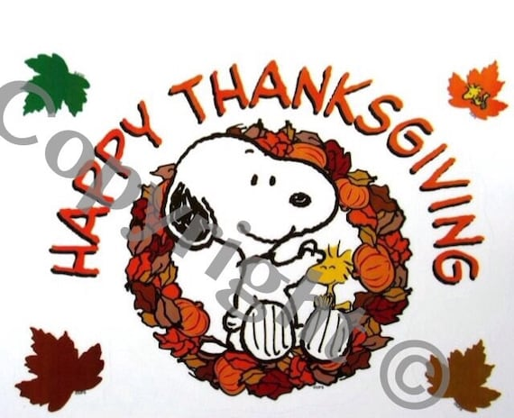 Snoopy Peanuts Instant Download Happy Thanksgiving Folding Etsy