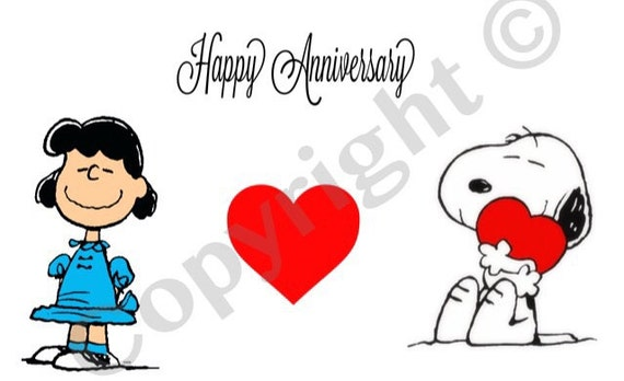 Immagini Snoopy Anniversario Matrimonio.Articoli Simili A Download Immediato Di Charlie Brown Felice