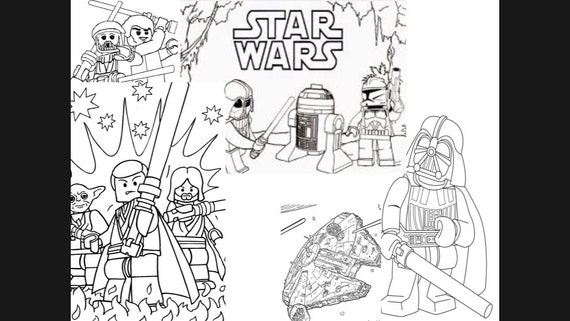 Feuilles De Coloriage Lego Star Wars Telechargement Immediat Etsy