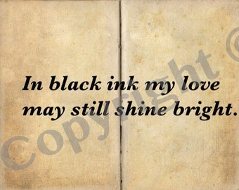 Shakespeare love sonnet digital download Valentine's card. Instant print out as many times as you like