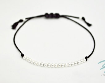 925 Sterling Silver Adjustable Cord Bracelet