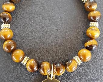 Tiger Eye Affirmation Bracelet/Gift for Her/Birthday Gift/Mothers Day Gift/Affirmation Bracelet
