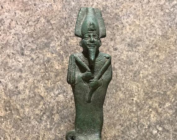 Osiris - Egyptian statue / sculpture - God of the afterlife & beloved of Isis. Egyptian mythology
