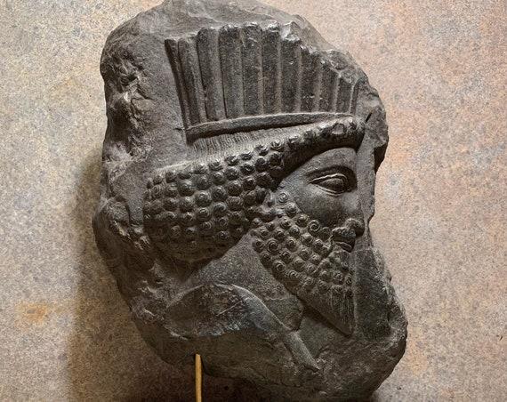 Persepolis sculpture . Darius the Great Palace fragment replica - Persian art