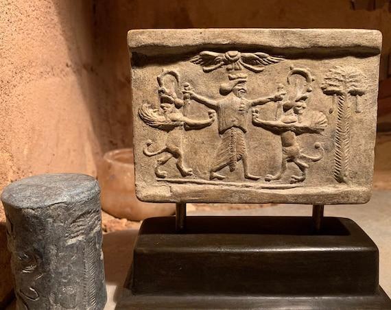 Mesopotamia / Persian cylinder seal & impression replica Achaemenid period