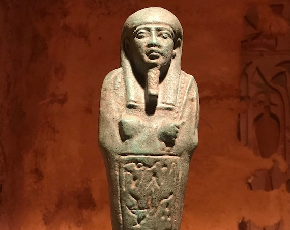 Egyptian statue - Ushabti / Shabti replica. Third intermediate period.