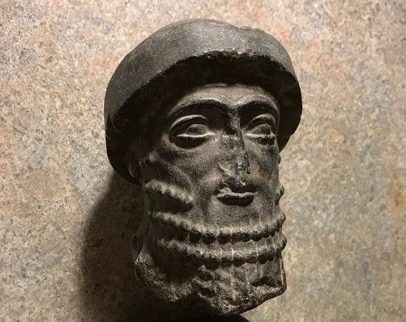 Hammurabi  Mesopotamian statue / sculpture fragment replica. King of Babylon - Head / Babylonian art