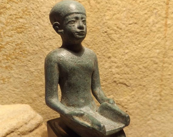 Egyptian statue / sculpture / art - Imhotep - Architect, Physician, Engineer. Master of scribes - Egyptian mythology