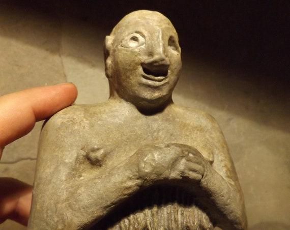 Sumerian temple statue - Mesopotamia - Replica of rare ancient sculpture artifact