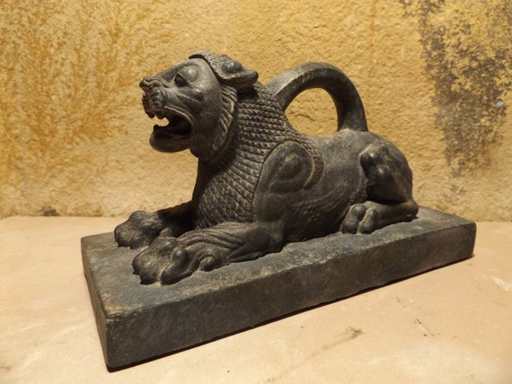 Persian Lion weight statue replica - Achaemenid period sculpture -  Persian art