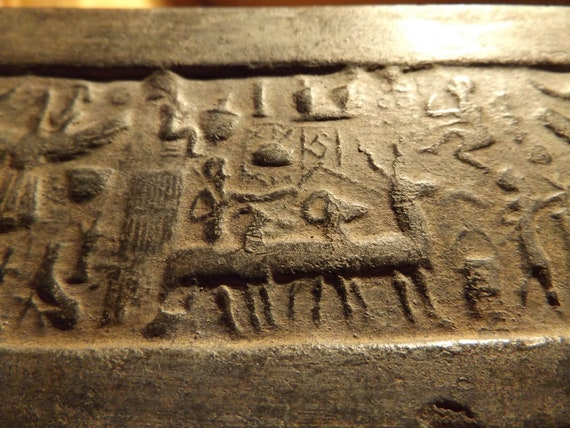 Sumerian / Mesopotamian cylinder seal impression Ascension of Etana - Annunaki / Ancient alien theory / chariot's of the gods