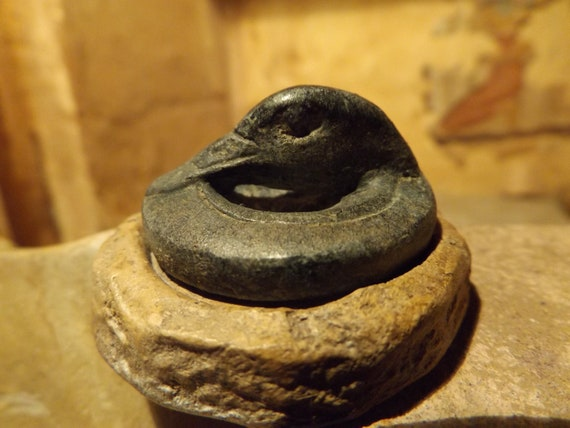 Babylon - Marduk priest seal & impression museum replica. Neo-Babylonian period