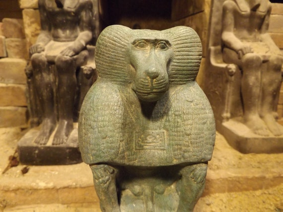 Egyptian statue / sculpture of the god of wisdom and writing - Thoth - Baboon