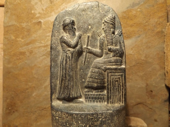 Babylon law code of Hammurabi - Akkadian Cuneiform Mesopotamian art / sculpture
