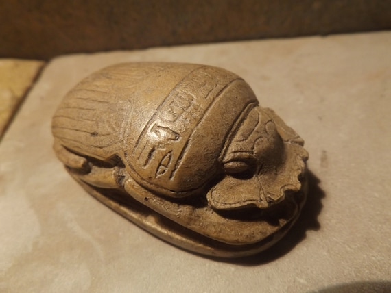 Egyptian art - Museum replica - New Kingdom heart scarab amulet.