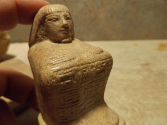 Egyptian statue / sculpture replica - Block statue type - Reign of Amenhotep III - 18th dynasty.