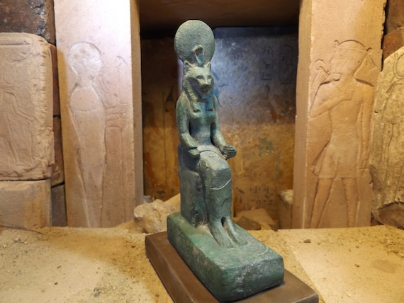 Egyptian statue of Sekhmet - Lioness - Goddess - Mythology of ancient Egypt