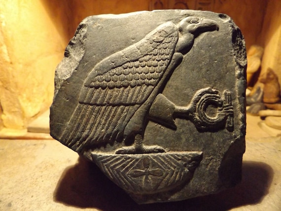 Egyptian art / sculpture relief of Nekhbet - Vulture goddess - Hierolglyph
