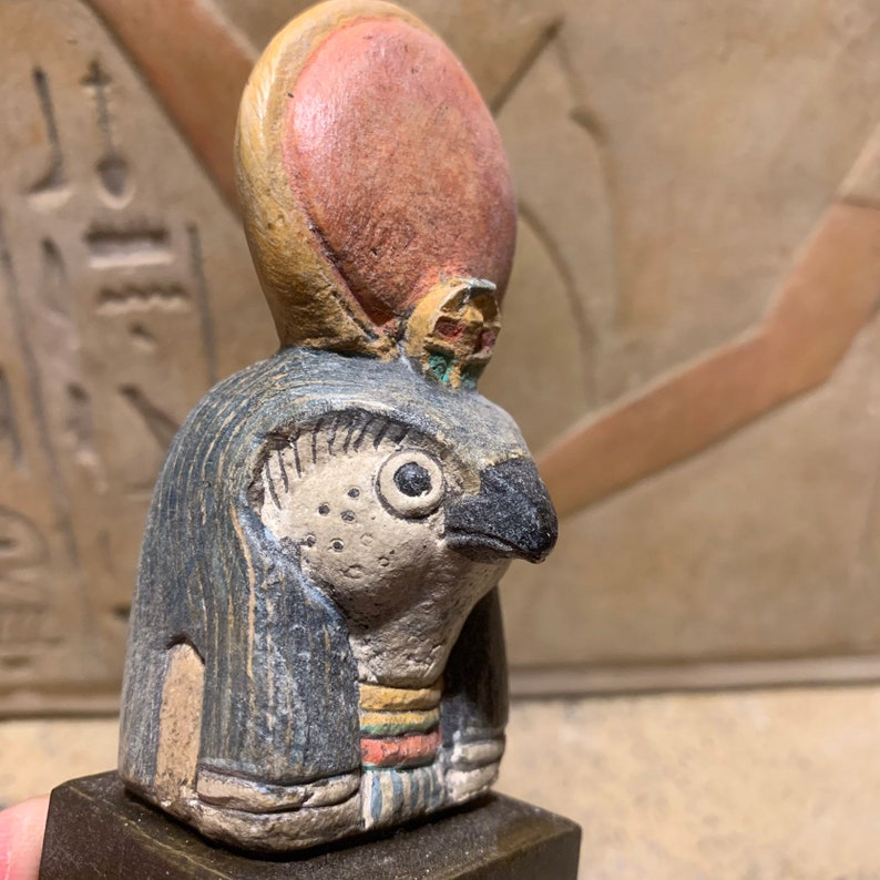Egyptian statue / sculpture replica of Ra the sun god