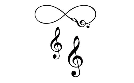 Items Similar To Set Of 3 Musical Infinity Treble Clef Temporary