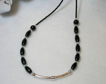 Tibetan Silver and Glass Bead Necklace