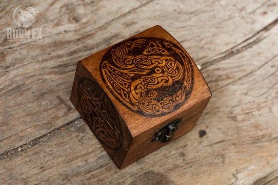 nordic design celtic dragon celtic knot jewelry box custom