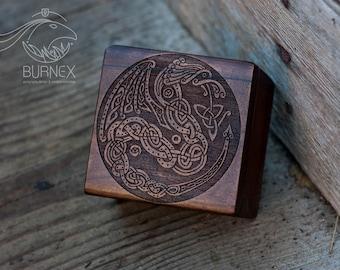 nordic design celtic dragon little box | jewelry custom box | box for rings