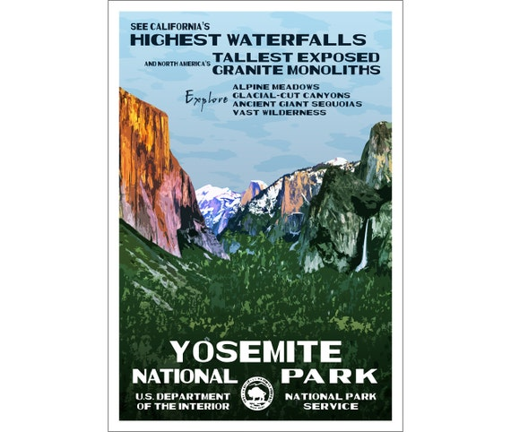 WPA-style Art PrintFree Shipping Redwood National Park Poster Original