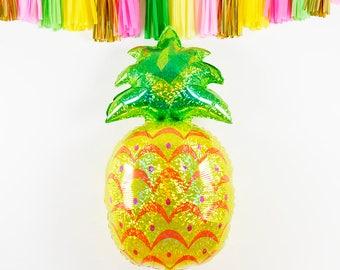 Jumbo Pineapple Foil Balloon, Pineapple Birthday Party, Summer Wedding, Beach Wedding, Hawaiian Party, Hawaiian Wedding, Party Bar Decor