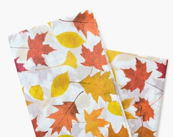 Fall Leaves Tissue Paper, Fall Pattern Paper, Thanksgiving Gift Wrapping Paper, Gift Wrap, Harvest Paper Supplies, Halloween Craft Supplies