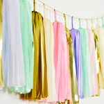 ASSEMBLED Unicorn Tassel Garland-Unicorn Banner-Unicorn Wall Art-Tassel Garland-Tassel Banner-Nursery Decor Banner-Unicorn Party Decor
