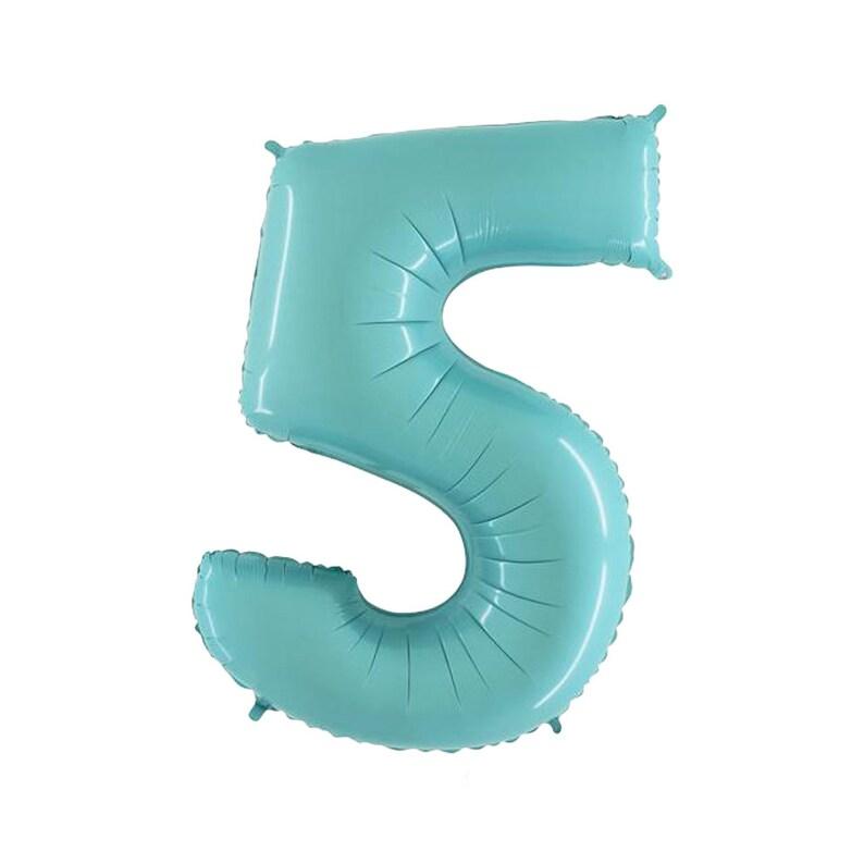 40 Jumbo Blue Number 5 Balloon Five