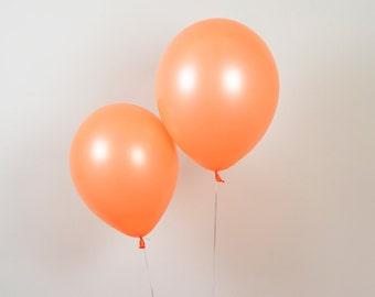 """11"""" Neon Orange Latex Balloon, Kids Birthday Balloon, Orange Balloons, Orange Baby Shower, Coral Balloon, Orange Birthday Balloon"""