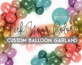 Custom Balloon Garland Kit, Pick Your Colors, Personalized Balloon Garland, Balloon Arch, Balloon Decoration, Birthday Decor, Baby Shower