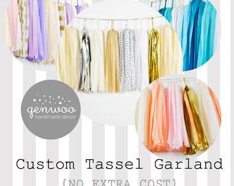 ASSEMBLED Custom Tassel Garland, Create Your Own, Choose Your Colors, Custom Wedding Decor, Baby Shower, Bridal Shower, Kids Birthday,