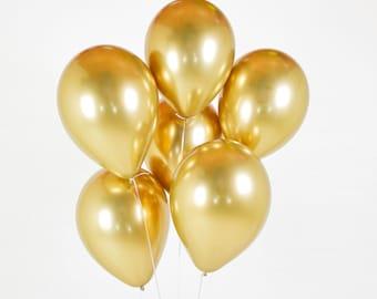 Gold Chrome Balloon-Chrome Balloons-Gold Balloons-Gold Balloon Bundle-Gold Party Balloon-Gold Latex Balloon-Gold Party Decor-Bridal Shower