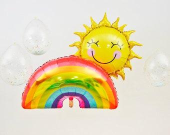 Sunshine Party Balloon Set, You Are My Sunshine, Sun Balloon, Rainbow Balloon, Confetti Balloon, Sunshine Birthday, Sunshine Baby Shower