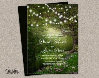 Enchanted Wedding Invitation Printable Woodland Wedding   Etsy
