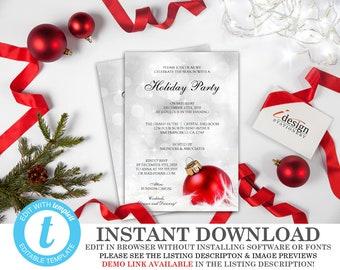 holiday gala invitation diy printable tuxedo invitations etsy