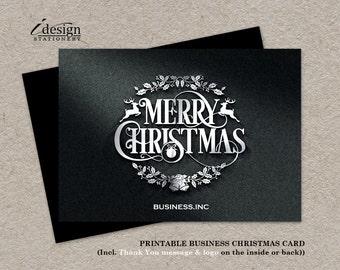 business christmas cards printable holiday thank you cards elegant automotive christmas greetings card metal construction christmas card - Elegant Christmas Cards