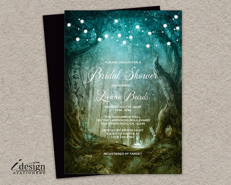 f8cf1cdaca5b7 Enchanted Bridal Shower Invitation Printable Enchanted