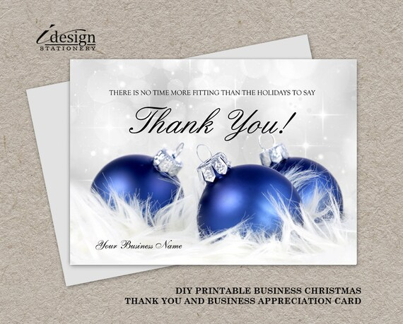 Business Christmas Thanks You Cards Corporate Holiday Etsy