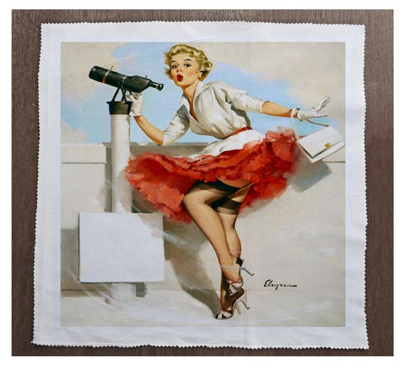 Pinup girl Pole Printed On Fabric Panel Make A Cushion Upholstery Craft