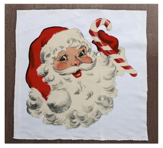 Vintage Coche Santa Impreso En Tela Panel hacer un Cojín De Tapicería Craft
