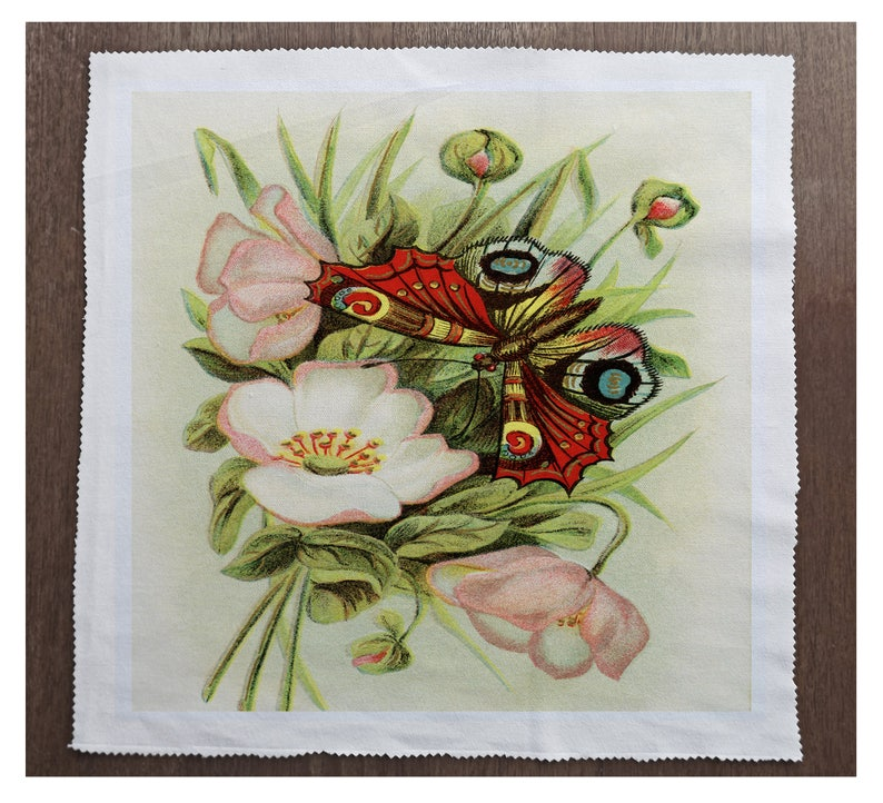 Printed Fabric Panel Make A Cushion Upholstery Craft Butterflies flowers