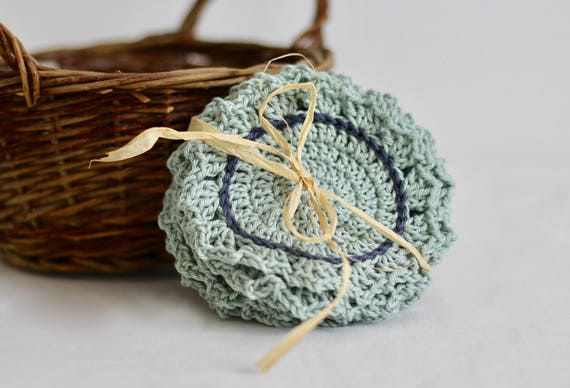 Free Shipping Crochet Coaster Coaster Set Drink Coaster Etsy