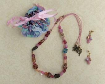 Nightly Swirls Earring and Necklace Set JENE-307