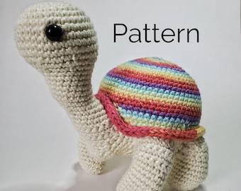 Sammie the Turtle Crochet Pattern | Spiral Shell Turtle