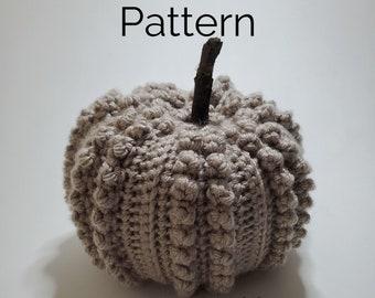 Popcorn Pumpkin Crochet Pattern | Easy, Beginner-Friendly, Quick Fall Pattern